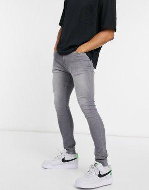 Серые зауженные джинсы Core-Серый Criminal Damage