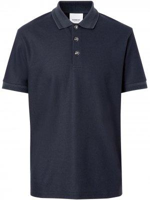 Рубашка-поло из ткани пике Burberry. Цвет: синий