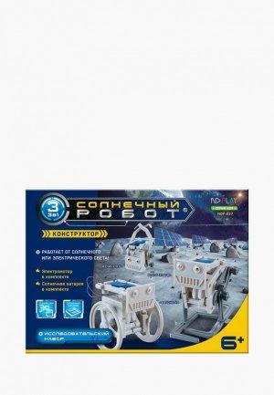 Конструктор ND Play Солнечный робот 3 в 1. Цвет: серый