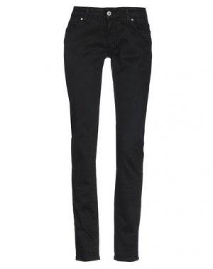 Джинсовые брюки LIST. Цвет: черный