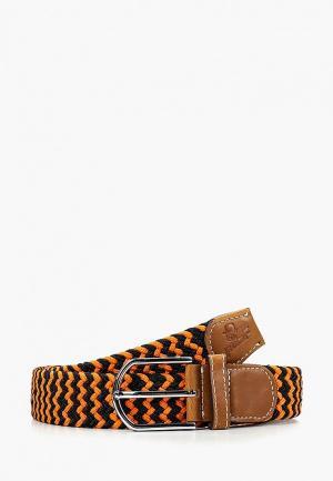 Ремень Churchill accessories. Цвет: оранжевый
