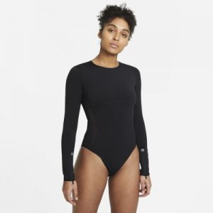 Женское боди с длинным рукавом для тренинга City Ready - Черный Nike
