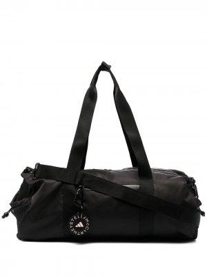 Спортивная сумка цилиндрической формы adidas by Stella McCartney. Цвет: черный