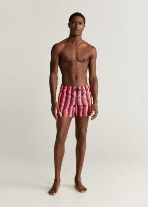 Плавательные шорты с принтом в полоску - Milos Mango. Цвет: красный