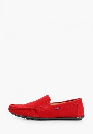Мокасины Keddo. Цвет: красный