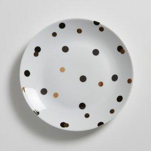 Комплект из 4 десертных тарелок La Redoute. Цвет: зеленый