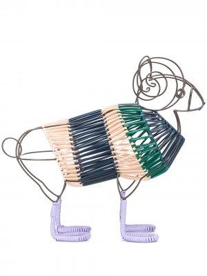 Плетеная декоративная фигурка MARNI INTERIORS. Цвет: синий