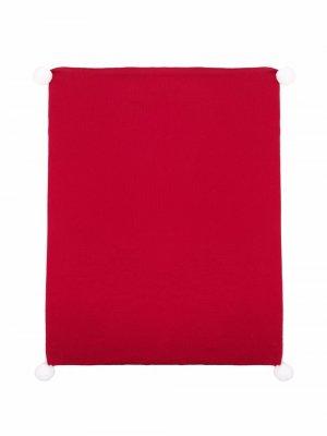 Pom pom-trim baby blanket Little Bear. Цвет: красный