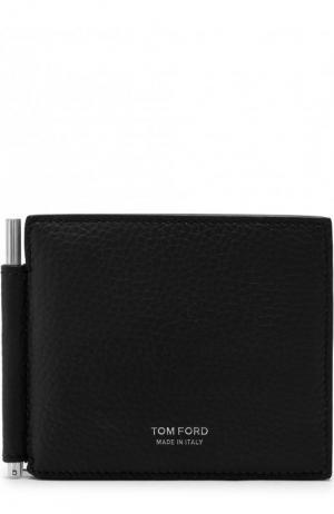 Кожаный зажим для купюр с отделениями кредитных карт Tom Ford. Цвет: темно-синий