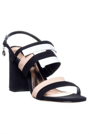 High heels sandals GianMarco Venturi. Цвет: black and white