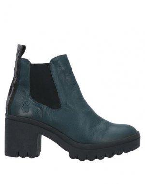 Полусапоги и высокие ботинки FLY LONDON. Цвет: цвет морской волны