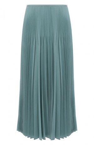 Шерстяная юбка Fendi. Цвет: бирюзовый