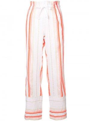 Пляжные брюки Fiesta в полоску lemlem. Цвет: желтый