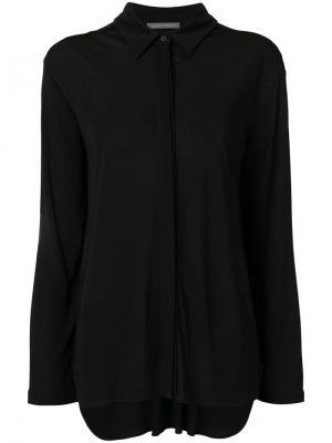 Блузка на пуговицах Alberta Ferretti. Цвет: черный