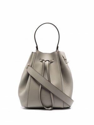 Большая сумка с кулиской Furla. Цвет: серый
