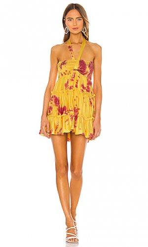 Платье sunset beach Privacy Please. Цвет: yellow,rust