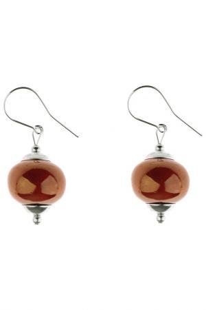 Серьги By dziubeka. Цвет: коричневый, оранжево-коричневы