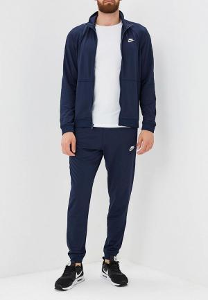 Костюм спортивный Nike Sportswear Mens Woven Hooded Track Suit. Цвет: синий