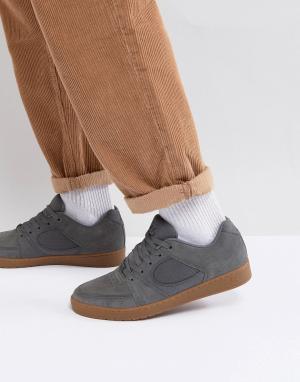 Серые кроссовки Accel Slim eS Skateboarding. Цвет: серый