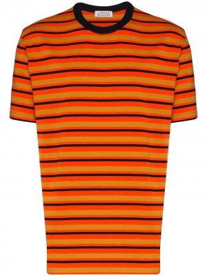 Полосатая футболка Loreak Mendian. Цвет: оранжевый