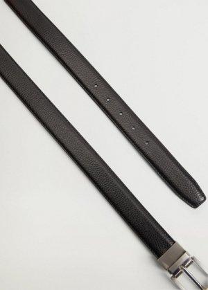 Двусторонний костюмный ремень из кожи - Emili4 Mango. Цвет: черный
