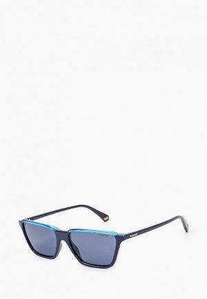 Очки солнцезащитные Polaroid PLD 6126/S PJP. Цвет: синий