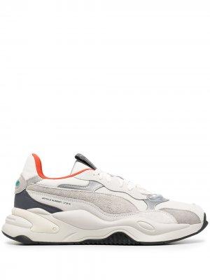 Кроссовки со вставками Puma. Цвет: серый