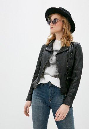 Куртка кожаная Oakwood CAMERA. Цвет: черный
