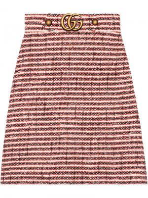Твидовая юбка в полоску Gucci