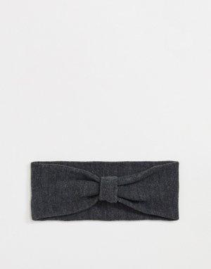 Темно-серая меланжевая повязка на голову -Серый Pieces