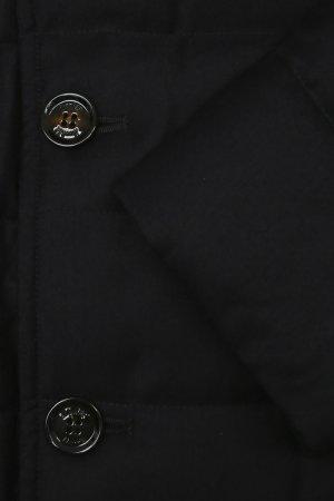 Удлиненная шерстяная куртка с жилетом MooRer. Цвет: синий
