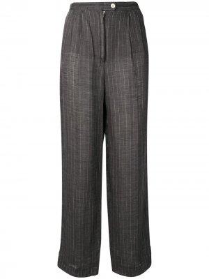 Зауженные брюки в полоску 1970-х годов Krizia Pre-Owned. Цвет: серый
