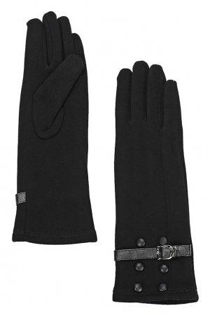 Черные перчатки с ремешками Marco Bonne`. Цвет: черный