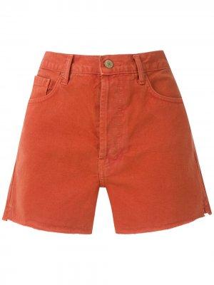 Короткие шорты строгого кроя Eva. Цвет: красный
