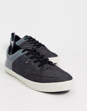 Синие кроссовки с комбинированной отделкой -Синий Boxfresh