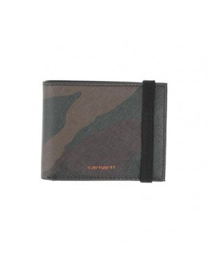 Бумажник CARHARTT. Цвет: темно-зеленый