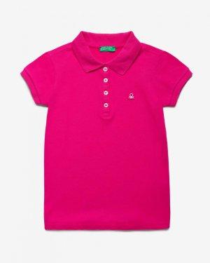 Поло пике с лого Benetton. Цвет: розовый