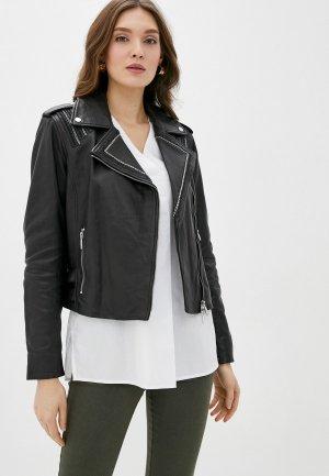 Куртка кожаная Madeleine. Цвет: черный
