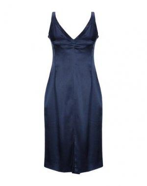 Платье до колена GIO' GUERRERI. Цвет: темно-синий