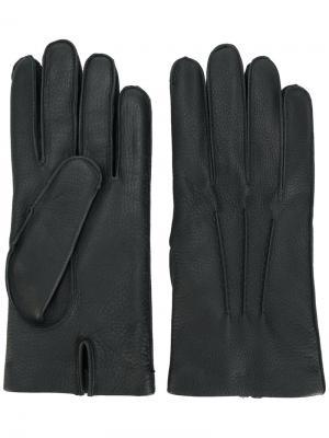 Классические перчатки Mario Portolano. Цвет: чёрный