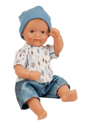 Кукла виниловая Денни 2 SCHILDKROET. Цвет: бежевый, белый, синий, голубой