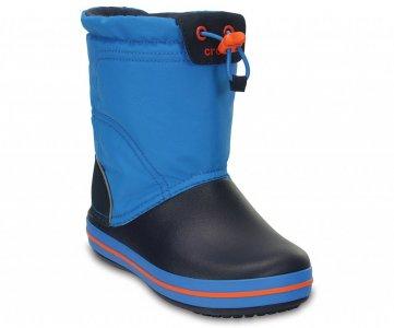 Зимние сапоги детские CROCS Kids' Crocband LodgePoint Boot Ocean/Navy (Синий) арт. 203509. Цвет: синий