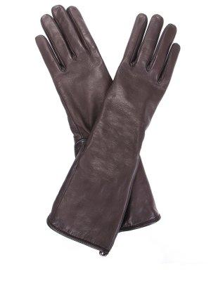 Перчатки удлиненные кожаные GIANVITO ROSSI