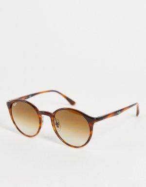 Круглые солнцезащитные очки в коричневой оправе стиле унисекс 0RB4337-Коричневый цвет Ray-Ban