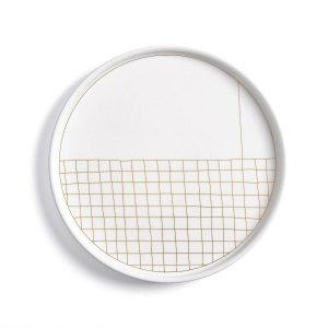 Комплект из десертных тарелок La Redoute. Цвет: другие