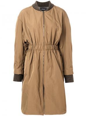 Удлиненная куртка-бомбер Deimos Isabel Marant. Цвет: зелёный
