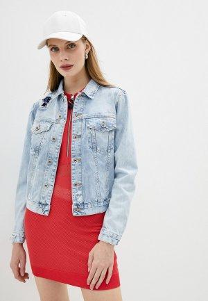 Куртка джинсовая Diesel. Цвет: голубой