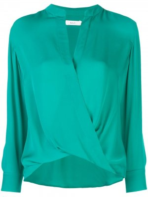Блузка с запахом A.L.C.. Цвет: зеленый