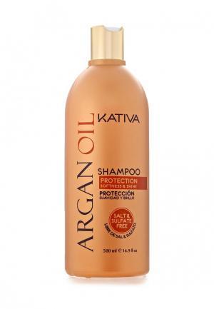 Шампунь Kativa Увлажняющий с маслом Арганы 500 мл. Цвет: белый