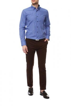 Рубашка Karflorens. Цвет: синий, серый